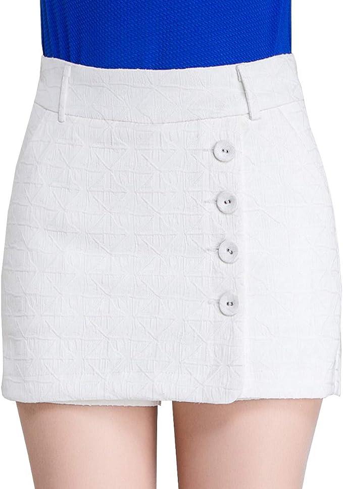 E-Girl - Falda - para Mujer Blanco L=40: Amazon.es: Ropa y ...