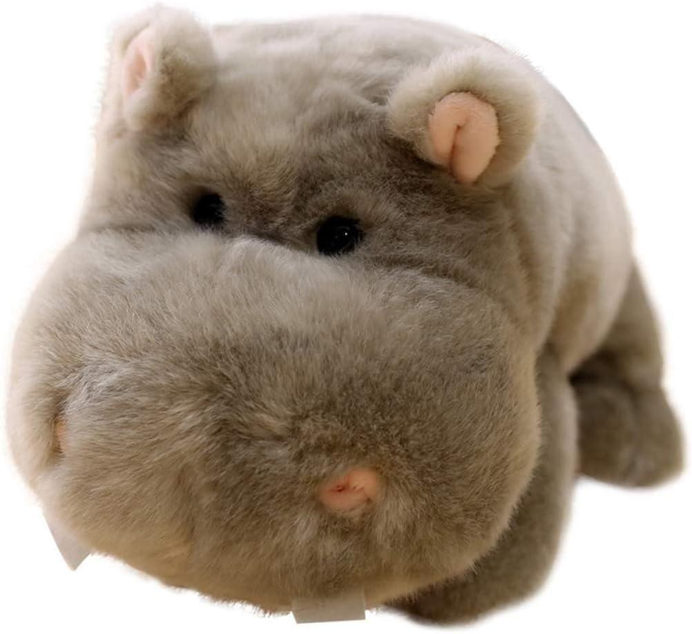 Juguete de peluche Juguetes Blandos Hippo Juguete De Dibujos Animados Hippo Juguete para La Habitación De Los Niños Déle A Su Hijo Lo Mejor (Gris, 35 Cm)