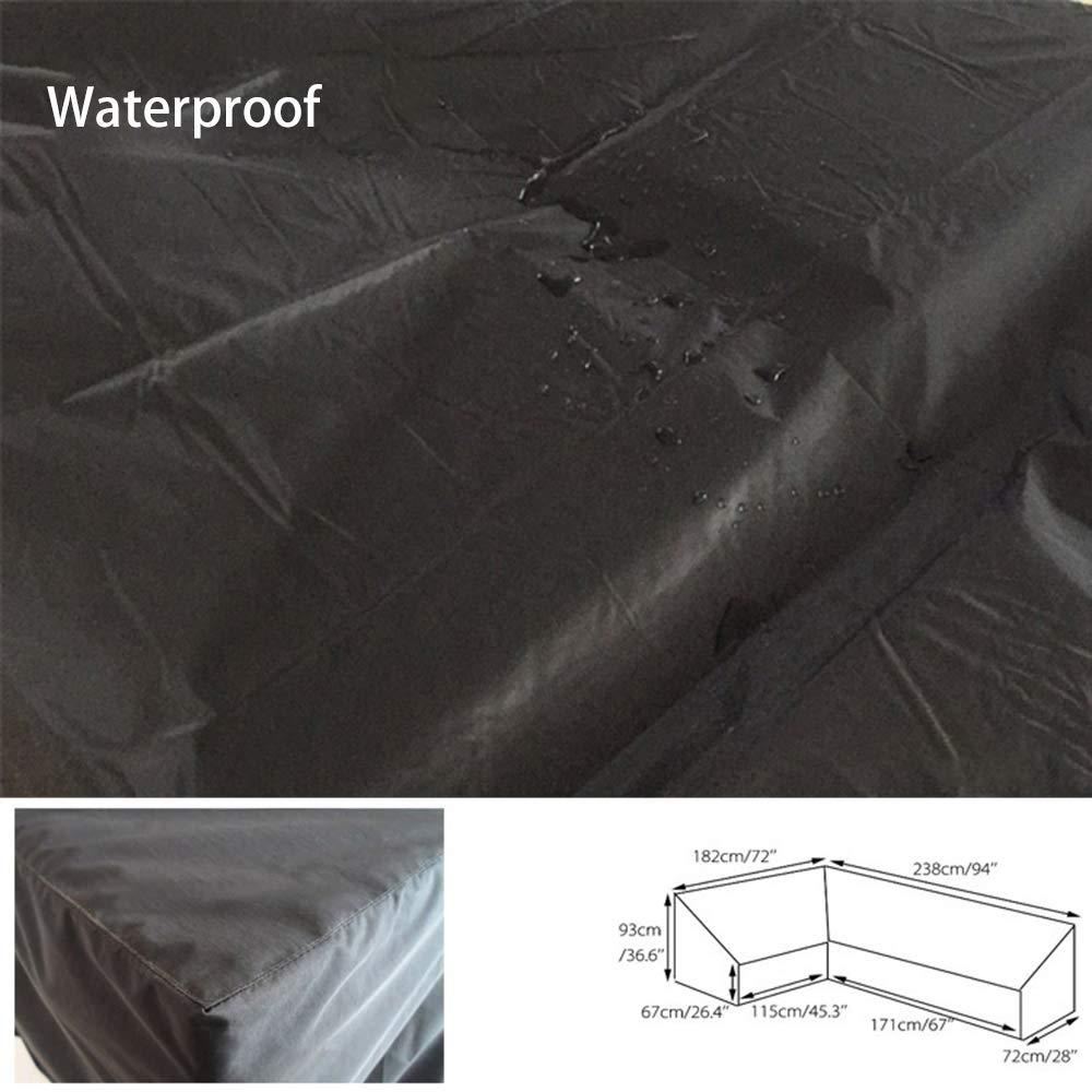 286 x 286 x 82 cm XINXUD Antivento e Anti-UV Copertura per mobili da Giardino Copertura per mobili da Giardino Resistente in Tessuto Oxford 210D Rettangolare Impermeabile