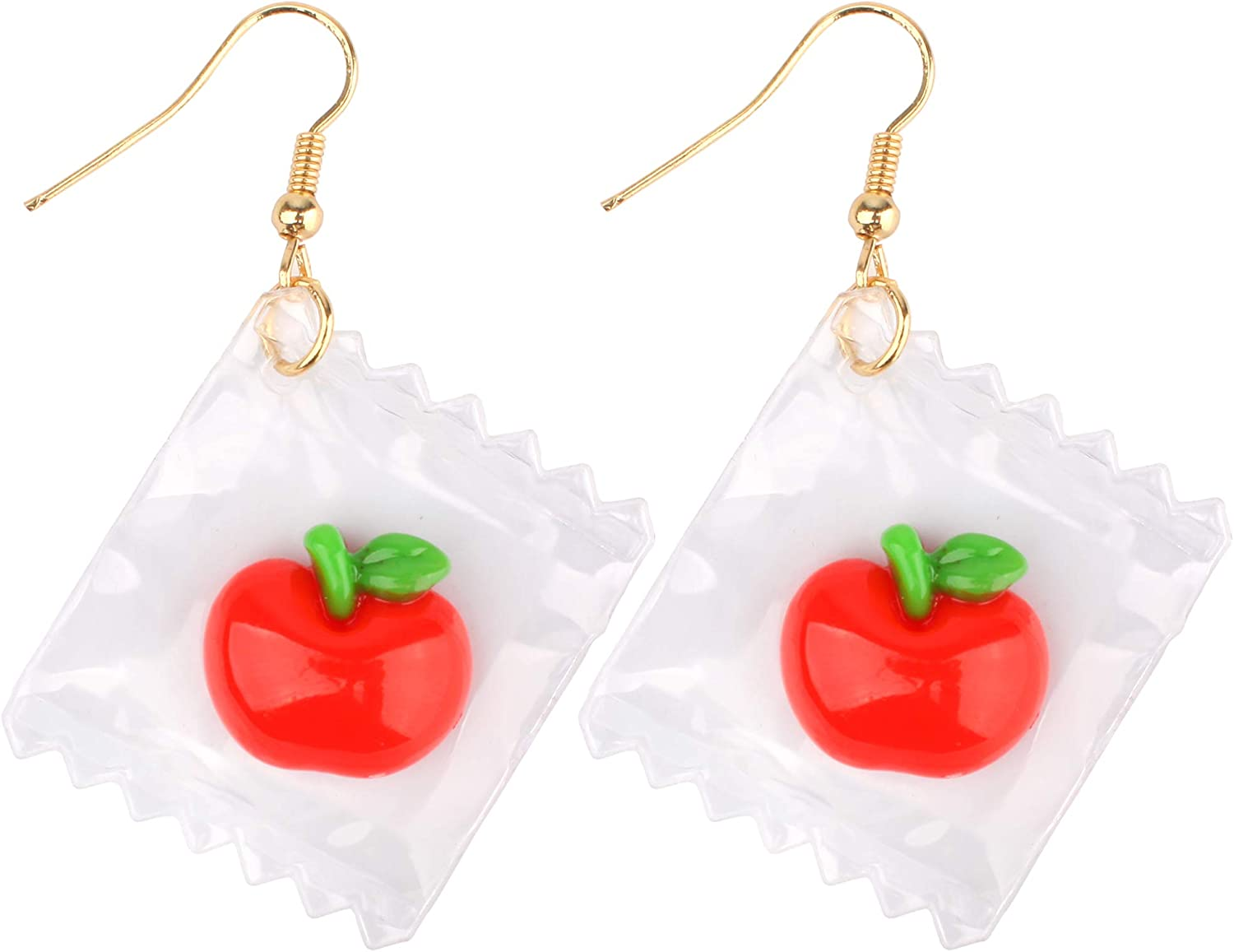 TATHIA Women Funny Candy Cherry Goldfish Water Bag Shape Dangle Hook Earrings Female Charm Jewelry