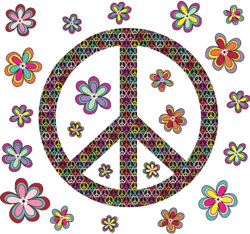 091212502819 - Brewster Wall Pops WPK99063 Peel & Stick Peace Wall Art Kit, 2-Sheets carousel main 0