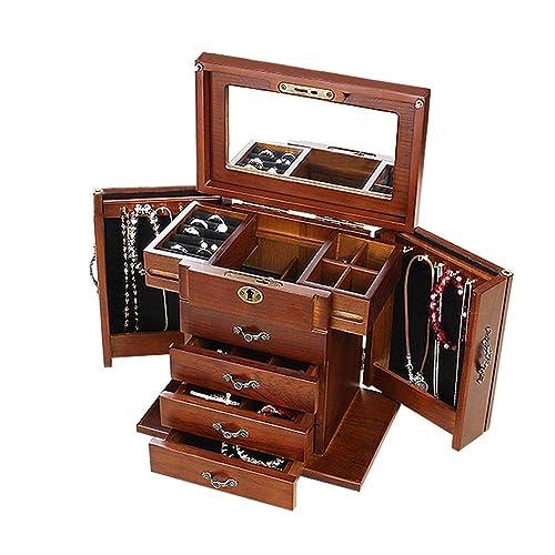 Cajas para Joyas Caja Joyero Cajas Y Organizadores Bolsas para Joyas Caja De Relojes Caja De Joyas Caja De Regalo Pendiente Collar Grande Espejo Pantalla ...
