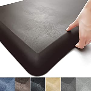 """Color&Geometry Anti Fatigue Floor Comfort Mat 3/4 Inch Thick 17""""24"""" Perfect for Standing Desks, Kitchen Sink, Stove, Dishwasher, Countertop, office or Garage, Brown"""