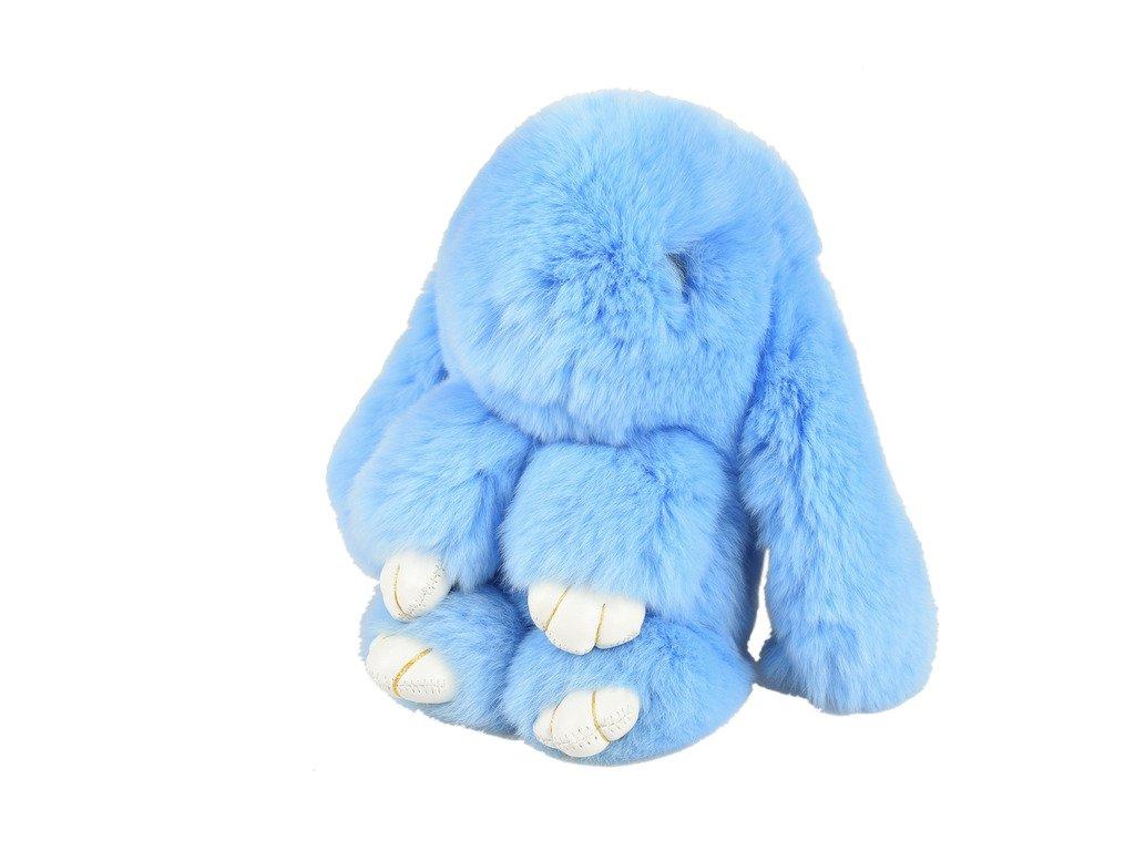 Nice Glory Rex Rabbit Fur Bunny Keychian, Bags Decoration & Car Pendant Purple
