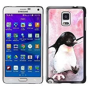 TopCaseStore / la caja del caucho duro de la cubierta de protección de la piel - Watercolor Baby Pink - Samsung Galaxy Note 4 SM-N910F SM-N910K SM-N910C SM-N910W8 SM-N910U SM-N910