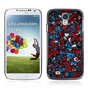 Designer Depo Hard Protection Case for Samsung Galaxy S4 / Cool Graffiti Abstract Pattern