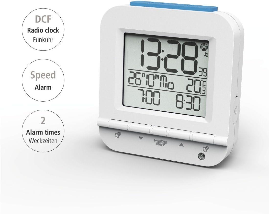 Hama Radio-r/éveil Dual Alarm Blanc