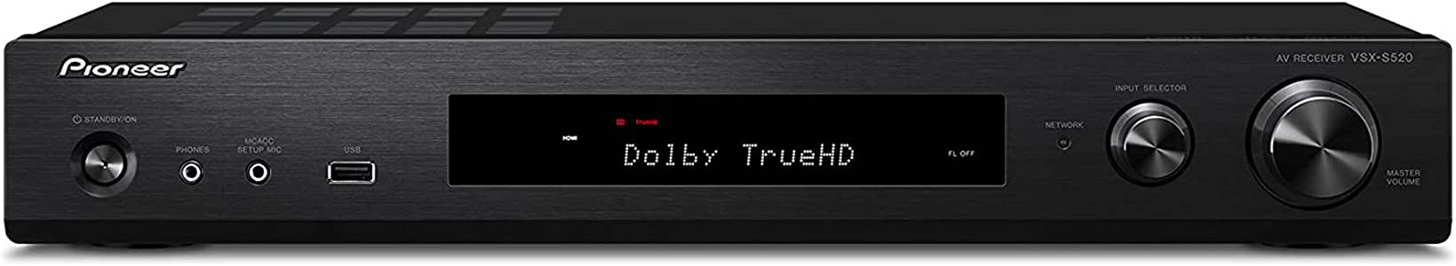 Pioneer VSX-S520 Slim Home Audio and Video Receiver - Black