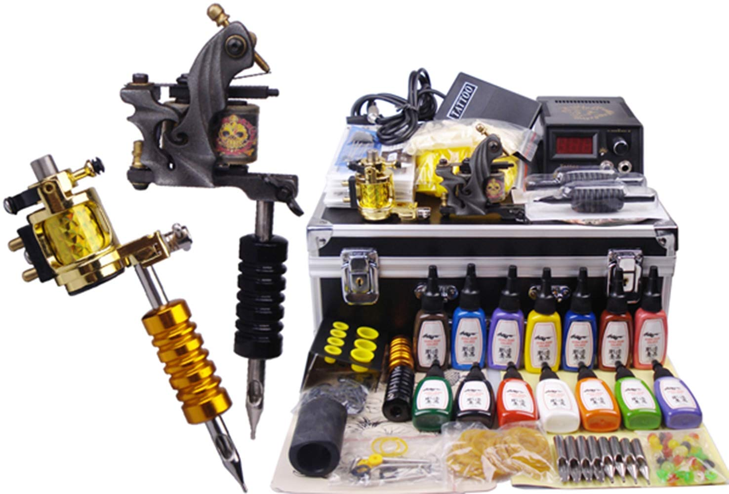 KUKUDEWENSHEN Professional Tattoo Set Full Set of Tattoo Equipment High-end Tattoo Machine Gun
