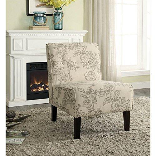 Linon Coco Gray Toile Accent Chair
