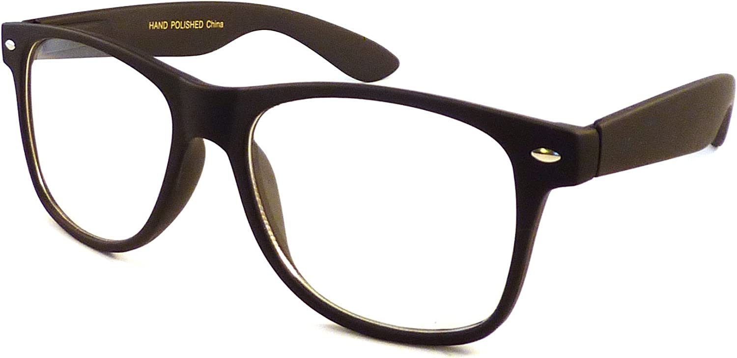Clear Lens Fashion Retro Oversized Style Frame Nerd Brille Geek Funky Glasses