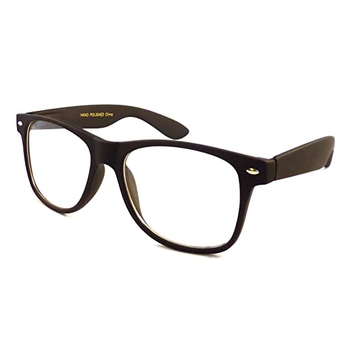 7b8f1fa67e1 Image Unavailable. Image not available for. Color  RETRO Nerd Oversized  Trendy Frame Clear Lens Eye Glasses BLACK MATTE