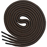 Miscly Round Boot Laces [3 Pairs] Heavy Duty and Durable Shoelaces for Boots, Work Boots & Hiking Shoes (54', Black -...