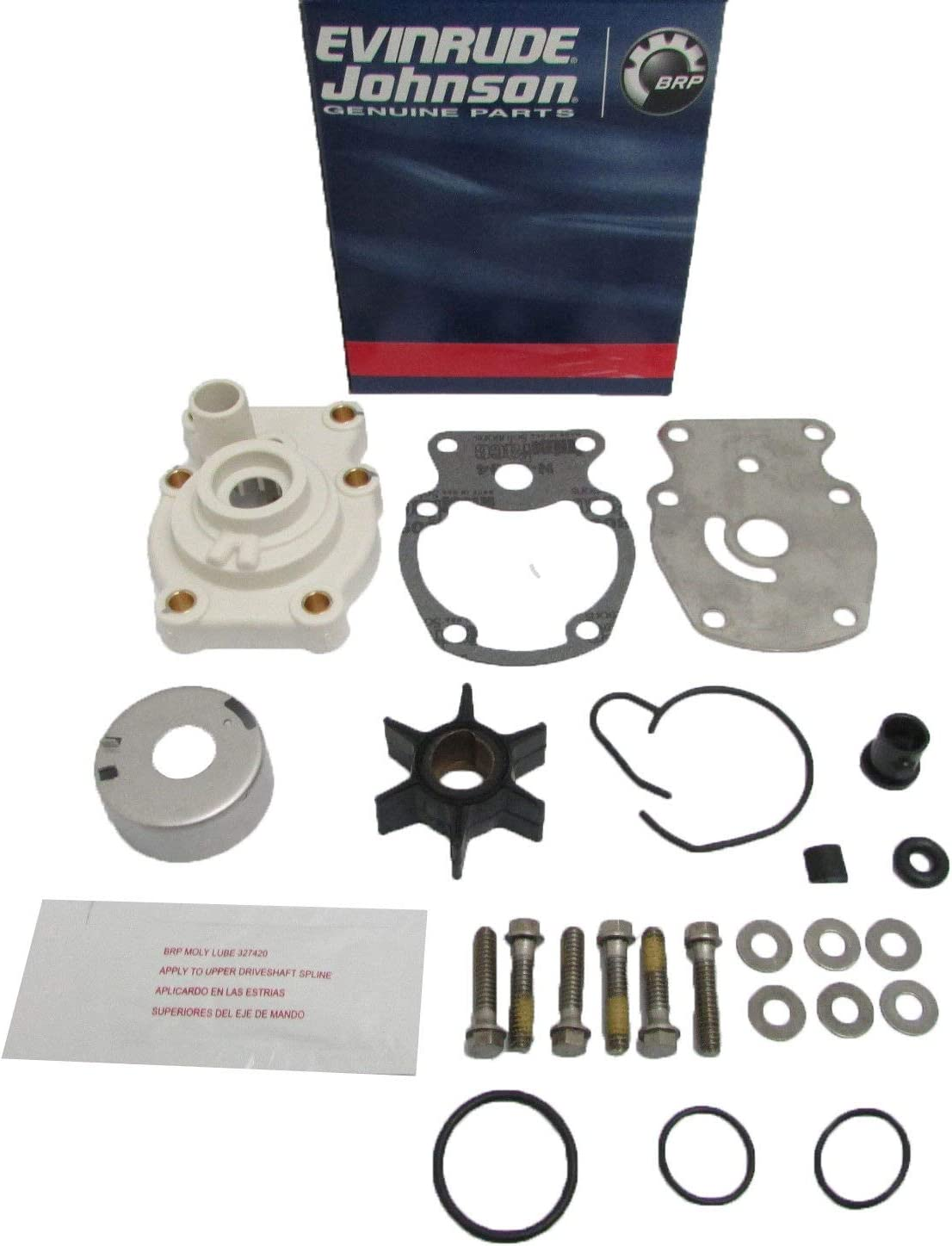 GLM 12070 Water Pump Impeller Service Kit 20-35 HP Johnson Evinrude 393630