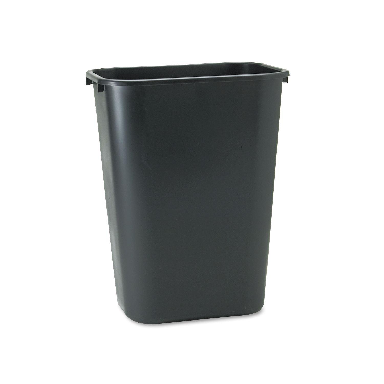 Rubbermaid 10.25 gal. Soft Molded Plastic Trash Can - Black