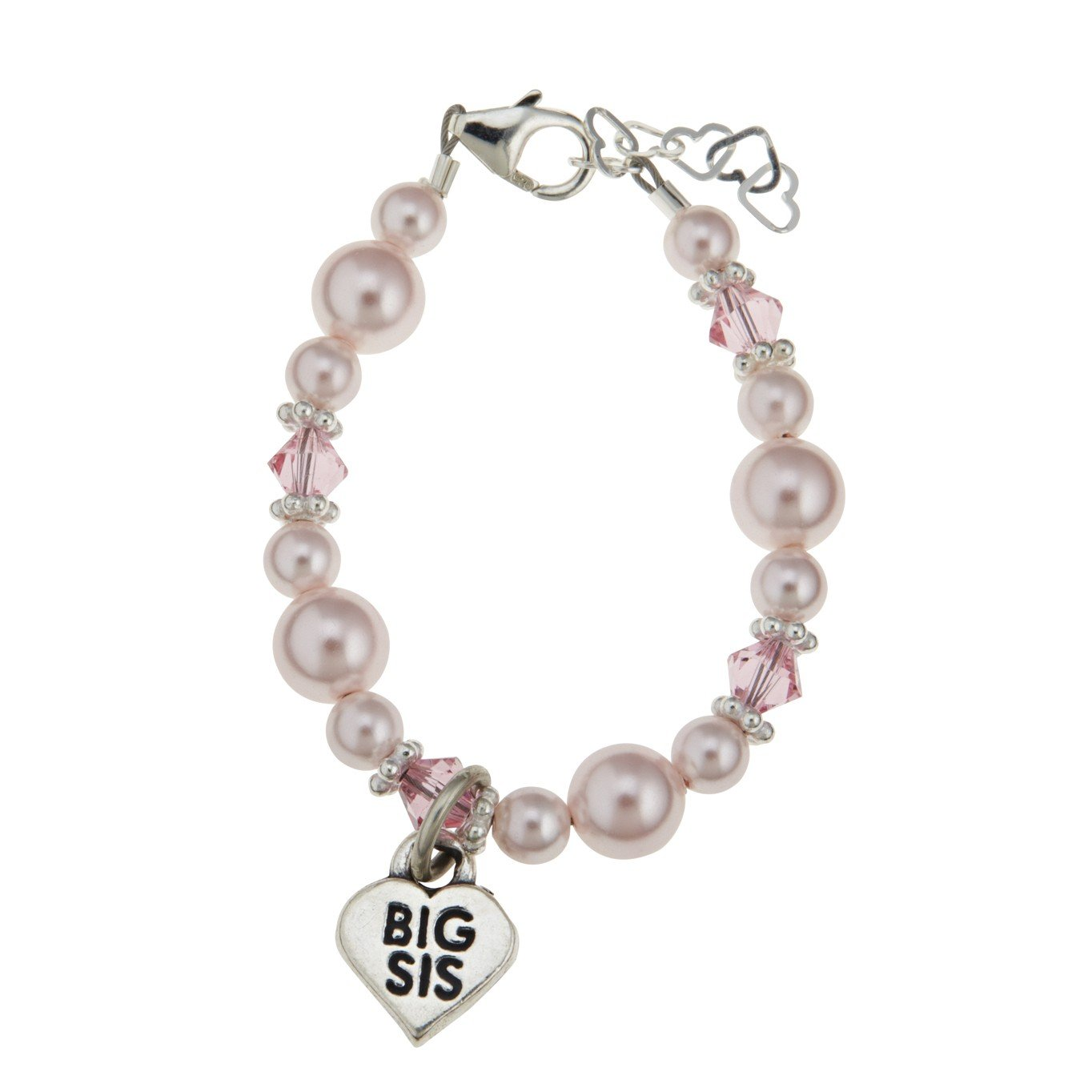 Pink Big Sis Swarovski Baby Girl Bracelet Crystal Dream Pink Big Sis Swarovski Baby Girl Bracelet (CD_BBSM_S) CD_BBSM_SMALL