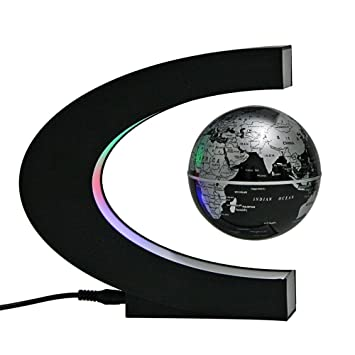 Chucalyn Globo Flotante magnético, rotación Mundial Planeta Tierra Bola con levitación magnética en Forma de