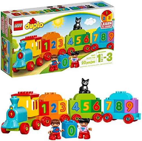 LEGO DUPLO My First Number Train 10847 Learning and Counting Train Set Building Kit and Educational Toy for 2-5 Year Olds (23 pieces)