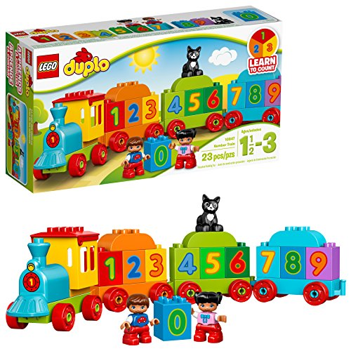 LEGO DUPLO My First Number Train 10847 Learning and Counting Train Set Building Kit and Educational Toy for 2-5 Year Olds (23 pieces) from LEGO