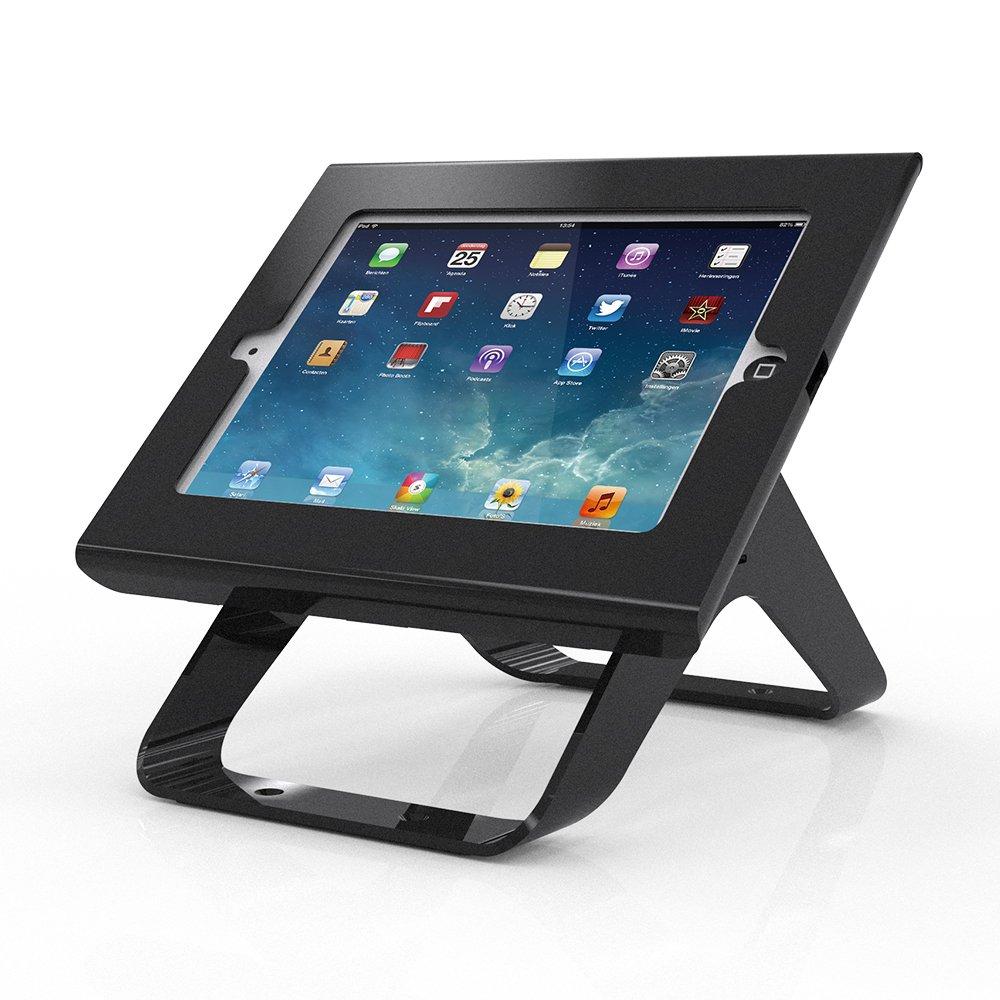 Anti Theft iPad Kiosk Stands Swivel 270°, POS Tablet Mount Holders For iPad 2 3 4, iPad Air 1 2,Key Lock Security, Black,BSC301B