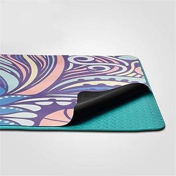 Tastak Estera de Yoga 1.5 mm portátil Plegable de Goma ...