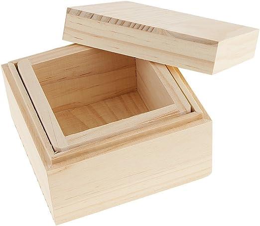 SGerste - Caja de almacenamiento de madera para joyería, caja de ...