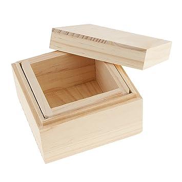 SGerste - Caja de almacenamiento de madera para joyería, caja de regalo de madera para