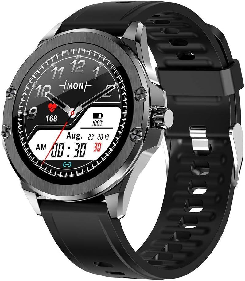 Deciduous Bluetooth Inteligentes Relojes Rastreadores de la Aptitud con la Presión del Corazón y la Sangre del Monitor del Contador de Paso, Podómetro Que Recorre por Hombres y Mujeres,Negro