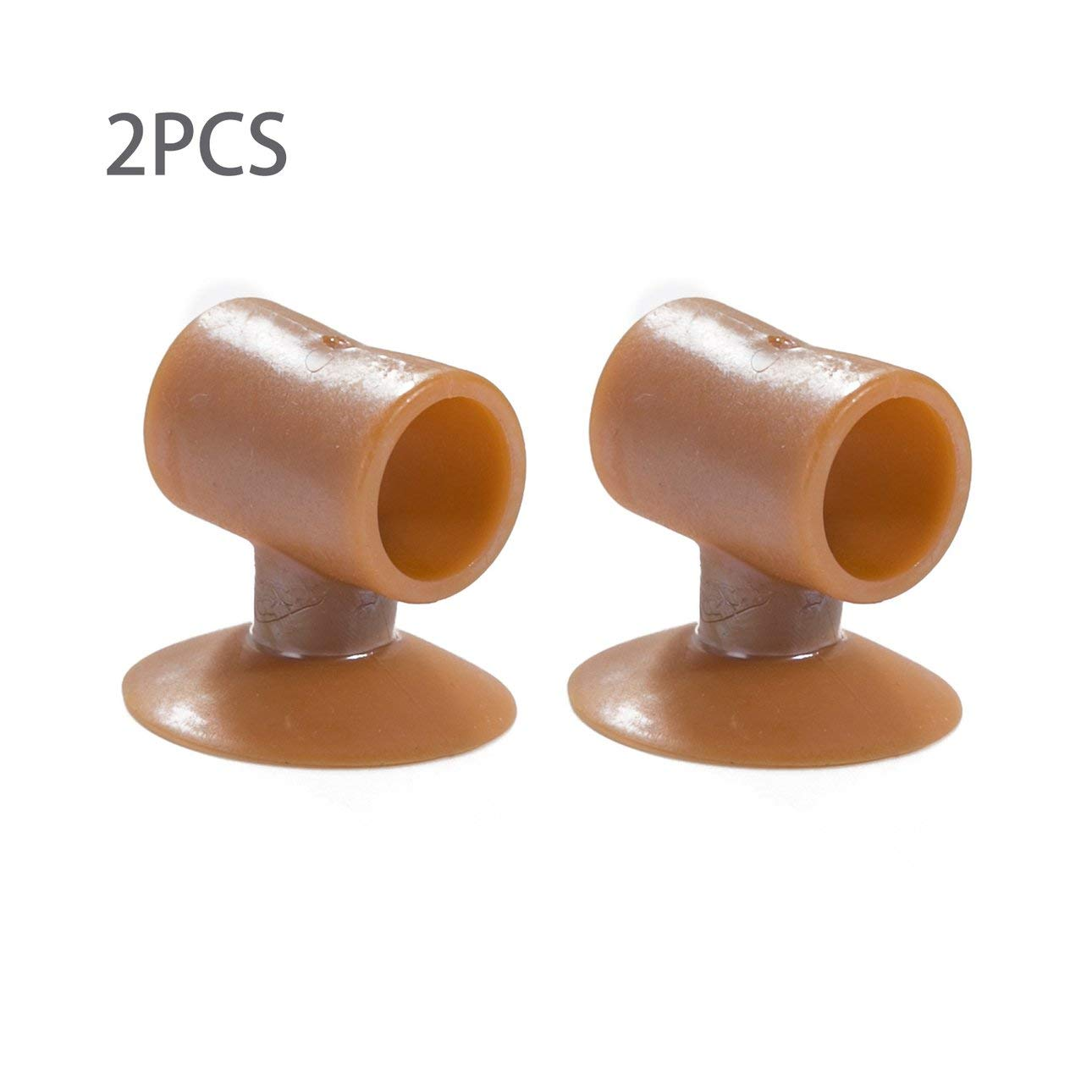 Liobaba Silent Door Wall Protector Anti-collision Pad,2PCS Soft Silicone Anti-Collision Door Protective Pads Suction Cup Type Cabinet Door Handle Lock Silencer Fender