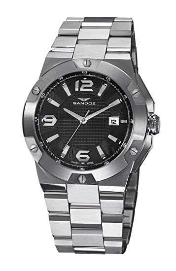 Reloj Sandoz Caractere 81281-05 Hombre Negro
