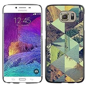 [Neutron-Star] Snap-on Series Teléfono Carcasa Funda Case Caso para Samsung Galaxy S6 [Patrón de verano a cuadros Cielo]