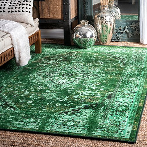 nuLOOM Vintage Persian Reiko Area Rug, 5' x 8', Green ()