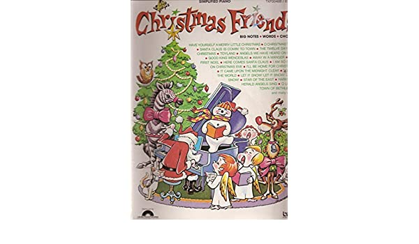 Christmas Friends Big Notes Words Chords Simplified Piano