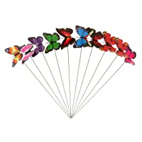 Magideal Colorful Flying Butterfly On Stick Model Home Garden Lawn Ornament 7X5.5Cm