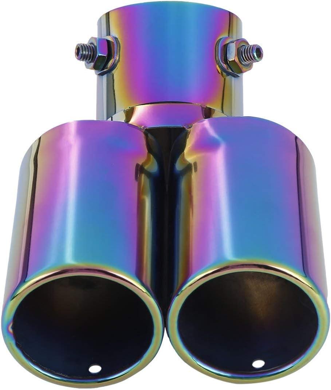 Ballylelly-1 bis 2 Dual Pipe Auto Auspuff Endst/ück Edelstahl Schalld/ämpfer Auspuff