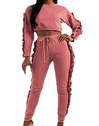 Girls' Clothing Fashion Style 2019 Brand New 1-6y Toddler Kids Baby Girl 2pcs Set Flare Sleeve Crops Tops Long Pant Legging Ruffled Outfits Sport Tracksuit Long Performance Life