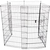 Oxgord 8-Panel Folding Wire Exercise Pen with Door for Pets, 64 by 64 by 42""