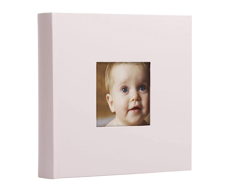 Pearhead Baby Photo Album, Light Pink