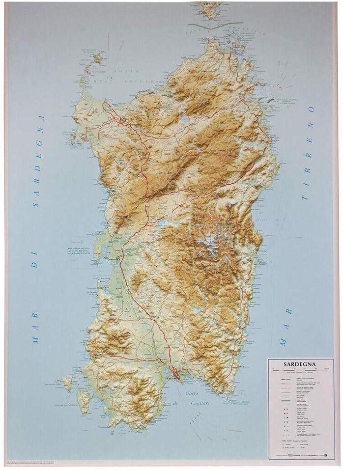 Cartina Sardegna Turistica.Glorioso Reputazione Popolare Mappa Sardegna Arbatax Amazon Hillraser Com
