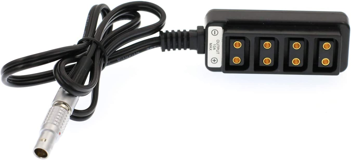 Eonvic B Type 4 Port D-tap Splitter Hub to 3 pin steadicam Zephyr Power Supply Cable for Camera