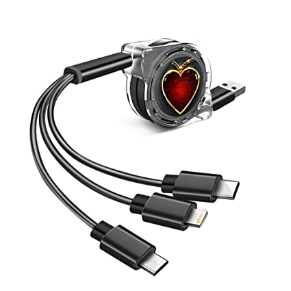 Amazon.com: Cable de carga multifunción telescópico con ...