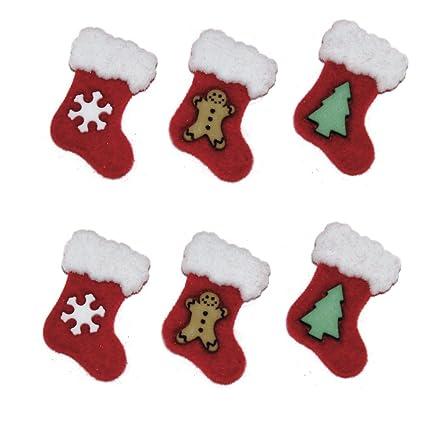 Rayher – 58910000 – botones – calcetines de Navidad, 2,5 cm, SB