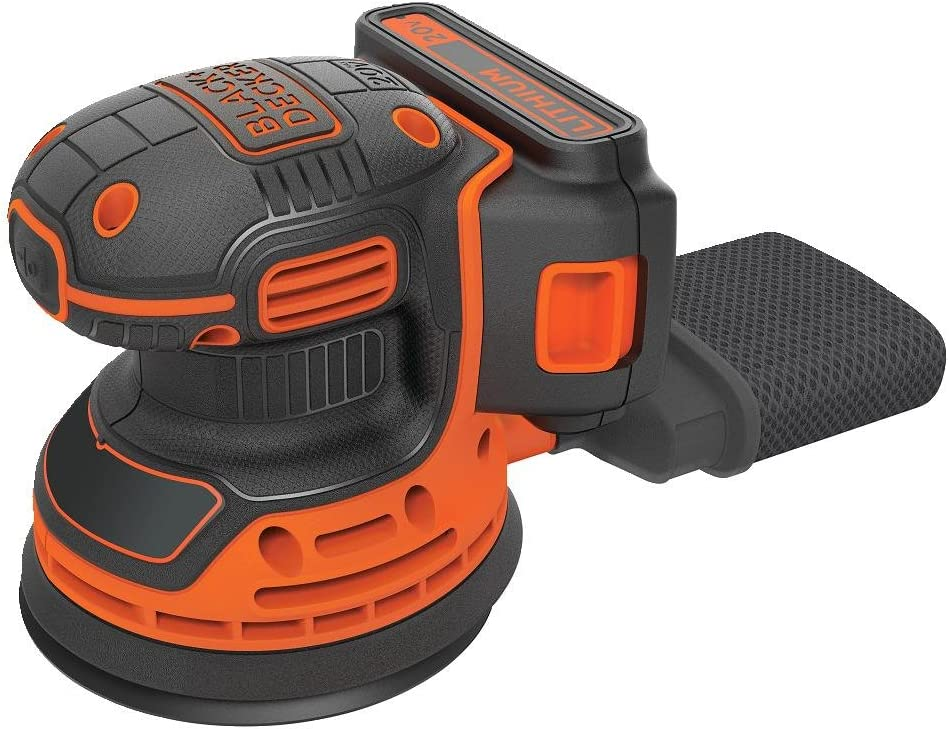 Black Decker BDCRO20C 20V MAX Random Orbit Sander with Battery and Charger