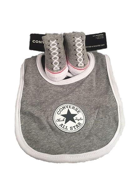 e2bf2280c0bb1 Converse Baby Boys' Bib & Bootie Socks Set - Grey, 0-6 Months