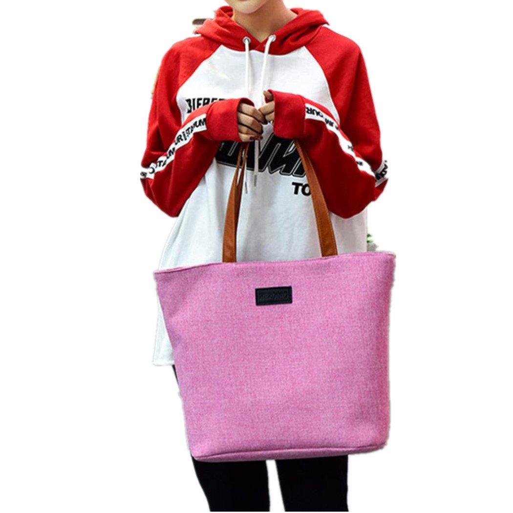 Alixyz Canvas Tote Bag for Women School Work Travel and Shopping Laptop Bag Blue)