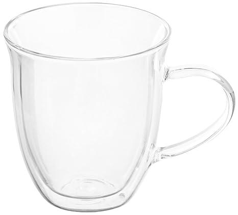 amazon com bonjour coffee insulated borosilicate glass latte cups