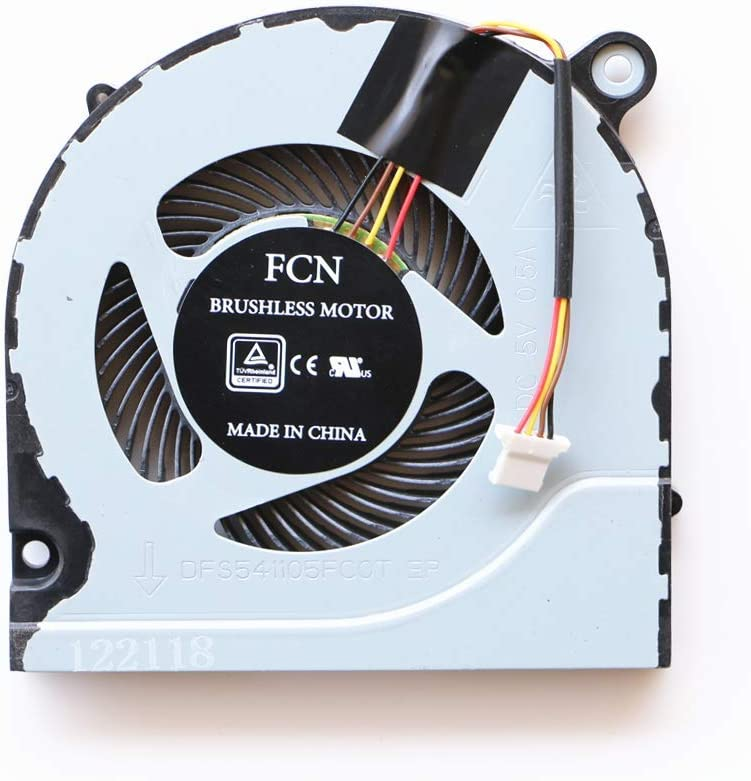 Replacement CPU Cooling Fan for ACER Predator Helios 300 G3-571 G3-571G DFS541105FC0T FJN1 DC5V Series Laptop