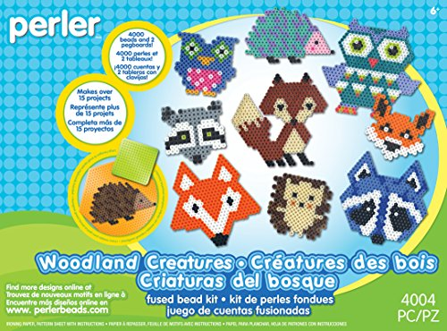 Perler Beads Woodland Creatures Animal Pattern Crafts for Kids, 4004 pcs ()