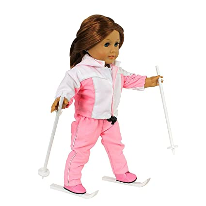 Amazon.com  Dress Along Dolly Skiing Doll Clothes for 18