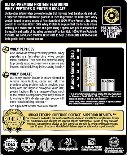 MuscleTech Pro Series Premium Gold 100% Whey Powder